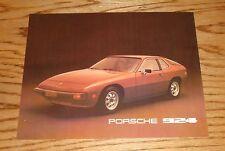 Original 1977 Porsche 924 Specification Sheet Sales Brochure 77