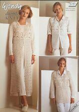"""Wendy DK Crochet Pattern ladies Waistcoat  cardigan Sweater Long Jacket 30/44"""""""