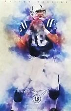 2017 Peyton Manning Indianapolis Colts Poster 11 X 17 Statue Ring Of Honor #18