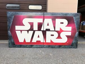 Toys R us EXCLUSIVE STAR WARS HUGE CARDBOARD 2 PIECE DISPLAY SIGN LARGE SHELF 1