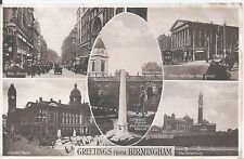 Collectable Birmingham Inter-War English Postcards (1918-39)