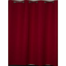 Red Eyelet Curtains Extra Wide 2x 290cm wide panels x 221cm drop PAIR 580cm