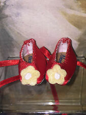 """Madame Alexander Accessories Pair of Red Fancy Nancy shoes for 8"""" doll NEW"""