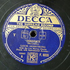 78rpm LOUIS ARMSTRONG shadrack / jonah and the whale