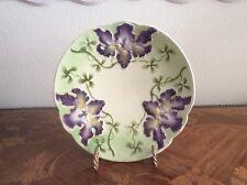 Antique Majolica Iris Flowers Plate c1800s