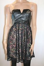 Ladakh Brand Women's Black Contradictions Strapless Dress Size S/M BNWT #TK05