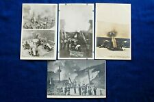 Lot of 4 Post Cards, Coast Artillery Corps Mortars