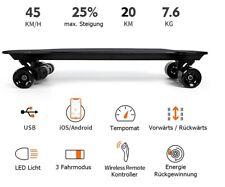 E-Skateboard Elektro Longboard Factory Schwarz, Dual Motor 1000W, 45 Km/h,  App