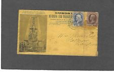 1880's JOHN GUNDRY CINCINNATI,OH ADVERTISING COVER-
