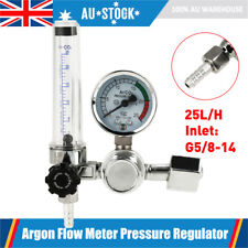 BiuZi G5//8 CO2 Regulator CO2 Gas Bottle Regulator Dual Gauge Carbon Dioxide Welding Pressure Reducer