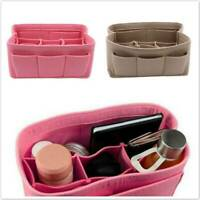 Multipocket Felt Handbag Insert Organizer Bag Storage Holder Purse Inner Case KI