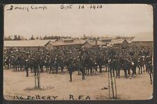 126 Battery Royal Field Artillery Borden Camp Hampshire 1910 RPPC