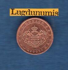 Monaco 2001 2 centimes d'euro SUP SPL Pièce neuve de rouleau - Monaco