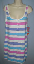 COCO RAVE~SMALL~Multi-Color Striped T-Shirt Dress Beach Swimsuit Coverup