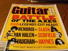 Guitar One Magazine December 2003 Battle Of The Axes Jimi Hendrix Van Halen