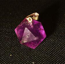 PENDENTIF Icosaedre Solide de PLaton En Amethyste