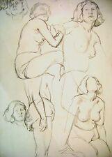 Figura Estudios Hembra (1) Patrick Phillips ARWS R Lápiz c1930