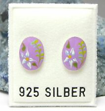 NEU 925 Silber OHRSTECKER Davidstern HEXAGRAMM petrol//grün OHRRINGE Earrings
