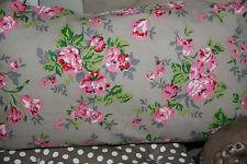 * dekoratives Kissen Beige Blumen Rosa 30x50cm Dekoration
