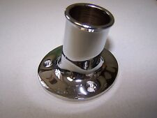 "492212 Brass Chrome Plated Flagpole Socket 1"" In Diameter Sea-Dog Line 132-3677"