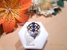 Juwelo Silberring Blauer Laos Herz Saphir 925 Sterling Silber Zertifikat   NEU