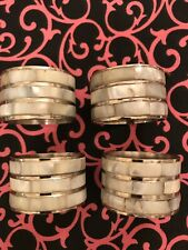 New listing Set Of 4 Mother Of Pearl Napkin Ring Holders Used