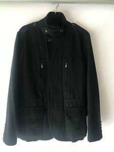 Ben Sherman size M men's wool black thick jacket