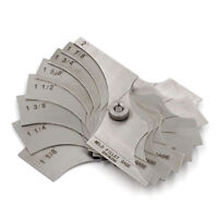 Radius Gage Gauge Fillet Set R15~25mm Concave Convex Arc End Internal Exter