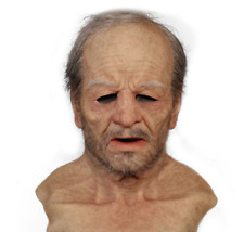 Latex Old Man Mask Disguise Realistic Masks Cosplay Costume Halloween Party New