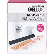 SALON System Gellux nutriente Gel Nail Polish Remover Manicure Kit facile rimozione