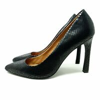 Next Black Court Shoes UK 7 EU 41 High Stiletto Heel