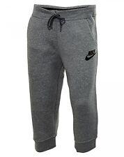 Nike Rally Capri Womens 803612-091 Grey Fleece Fabric Pants Sportswear Size L