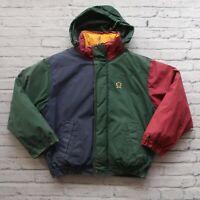 Vintage 90s Tommy Hilfiger Colorblock Parka Jacket Puffer Sport NYC Sailing
