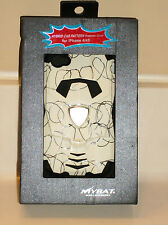 MyBat Apple iPhone 4/4S Curved Lines White Black Car Hybrid Case Cover NIB