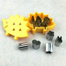 10pcs/set Mini Stainless Steel Fruit Cookie Biscuit Ham Cutter Mold Hedgehog Box