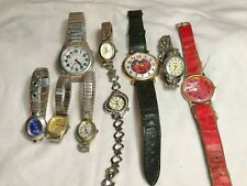 9 Vintage Wrist watches male and female different brands