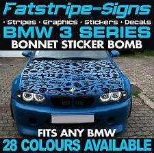 BMW 3 SERIES GRAPHICS STICKER BOMB BONNET DECALS STICKERS STRIPES E46 M3 GUN