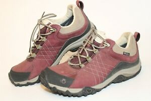Oboz Womens 7 37.5 B Dry Leather Hiking Trail Sneakers Lace Up Shoes