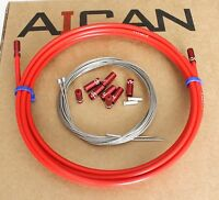 Aican PREMIUM bike bicycle SHIFT DERAILLEUR cable housing set kit Jagwire, Red