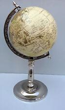 Decorative Retro World Globe With Table Stand Nautical Authentic Globe Decor Map