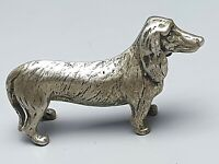 800 Silber Dackel Object de Art-Vitrinenstück Italien 60er Jahre plastisch /A467