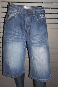 Makaveli By Thug Life Jean Shorts MBD-405 Dark Stone New Berlin New York Compton