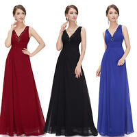 long dress chiffon evening party gown prom bridesmaid ball 6 formal lace wedding