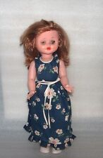 New listing Vintage Plastic And Rubber Doll In Original Dress