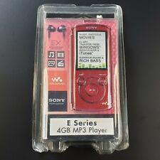 SONY NWZ-E464 4GB Walkman Digital MP3 Player Red - New