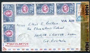 BRITISH HONDURAS: (19546) Mexico posted Belize to N. Tawton, Devon/censor