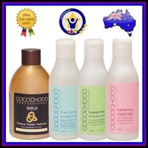 COCOCHOCO GOLD KERATIN + SHAMPOO + CONDITIONER Hair Straightening Treatment