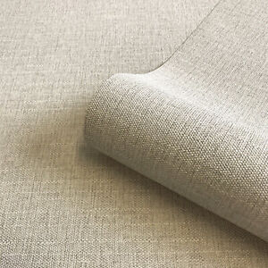 Giorgio Luxury Beige Fabric Effect Textured Plain Wallpaper by Belgravia 8104