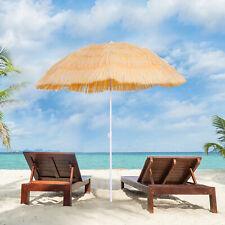vidaXL Beach Umbrella Natural 300cm Hawaii Style Outdoor Parasol Sunshade