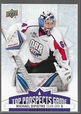 17/18 UD CHL Top Prospects Game Michael DiPietro TP6 Spitfires